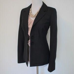 CLASSIQUES ENTIER Size 2 Gray Suit Blazer Jacket
